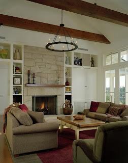 Corner Fireplace Family Room Design
