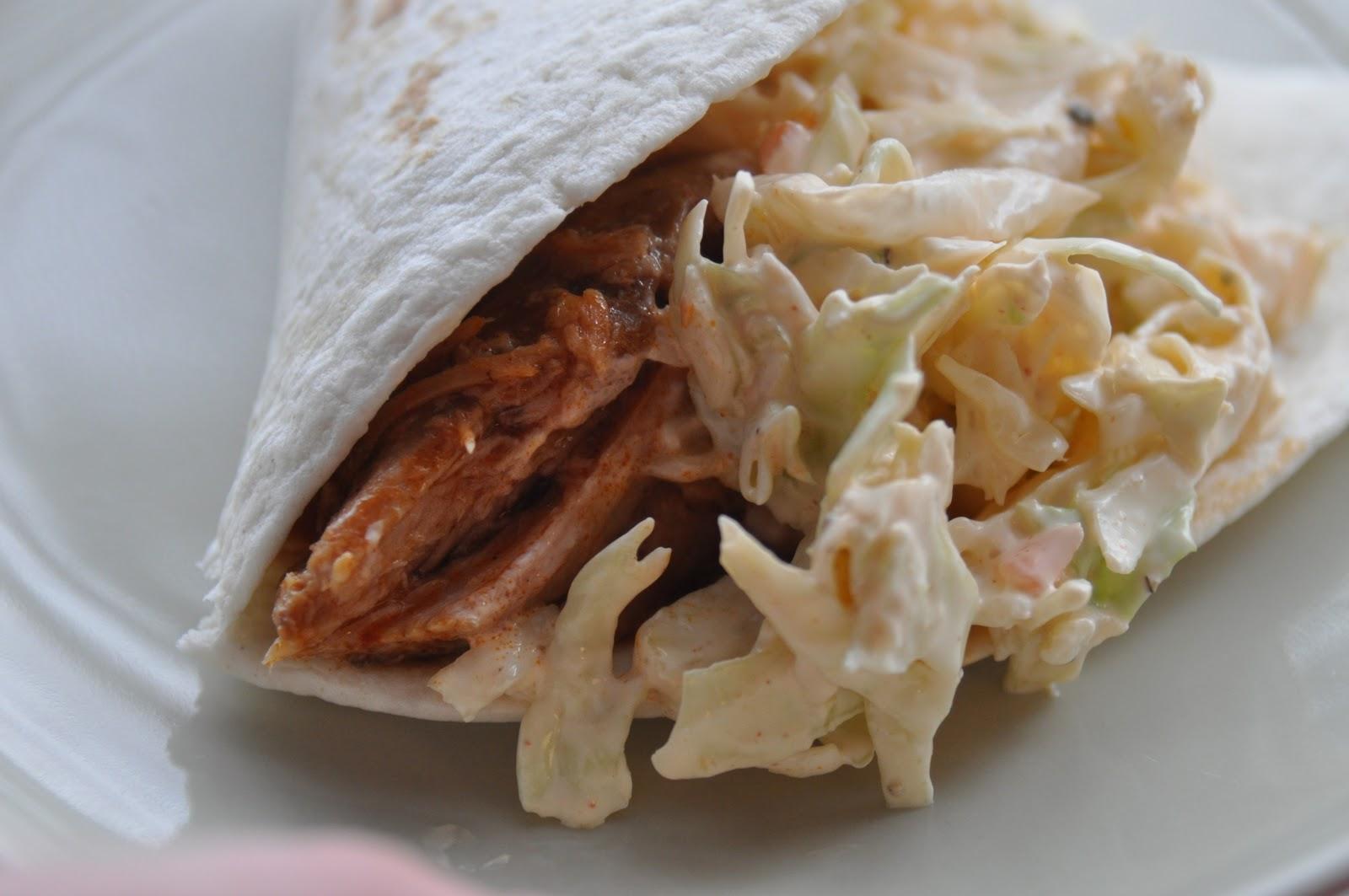 Simply Delish Bakery: Carnitas Tacos with Spicy Slaw