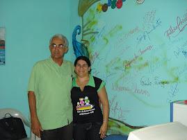 O Prefeito Mercial e Cristina Torres Coordenadora do CAC