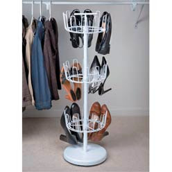 Rotating Shoe Rack Plans