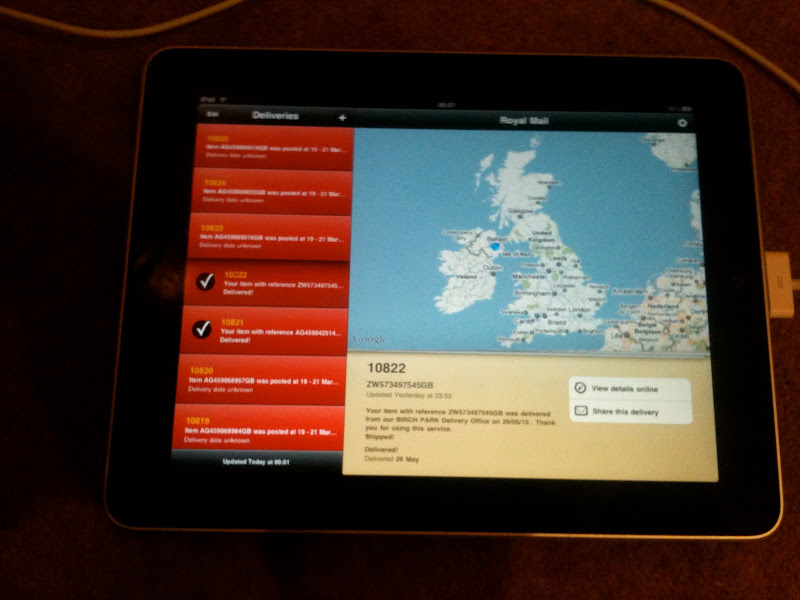 iPad Deliveries