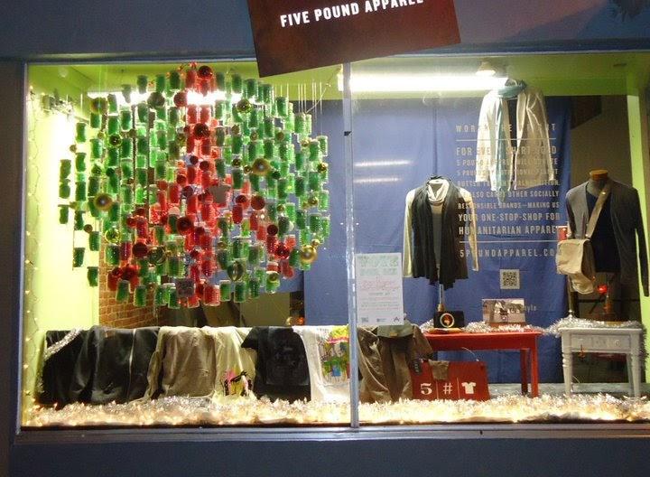 rebecca elliott interior design  christmas window display