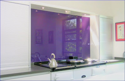 Kitchen Fitte d With Opticolor Blackcurrent Glass Splashback