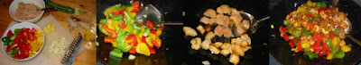 Zubereitung Paprika mit Hühnchen und Cashewnüssen chinesisch