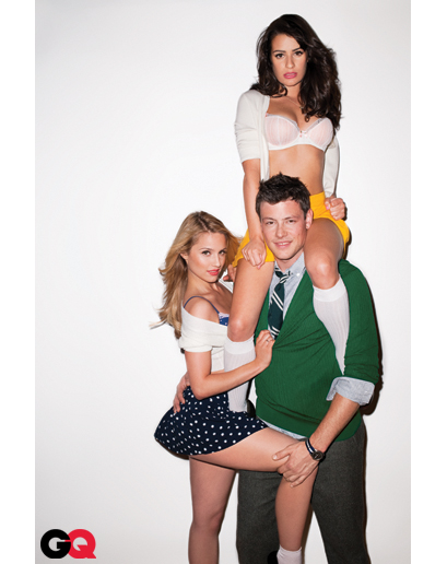 SHOOT: Outtakes From Dianna Agron, Lea Michele And Cory Monteith's Racy