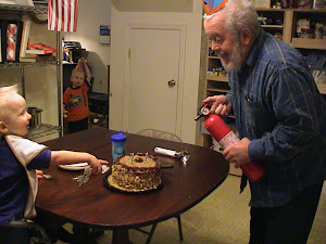 Second birthday with Papa