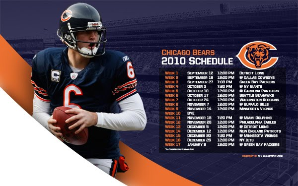 Download and use this 2010 Chicago Bears schedule wallpaper as your computer