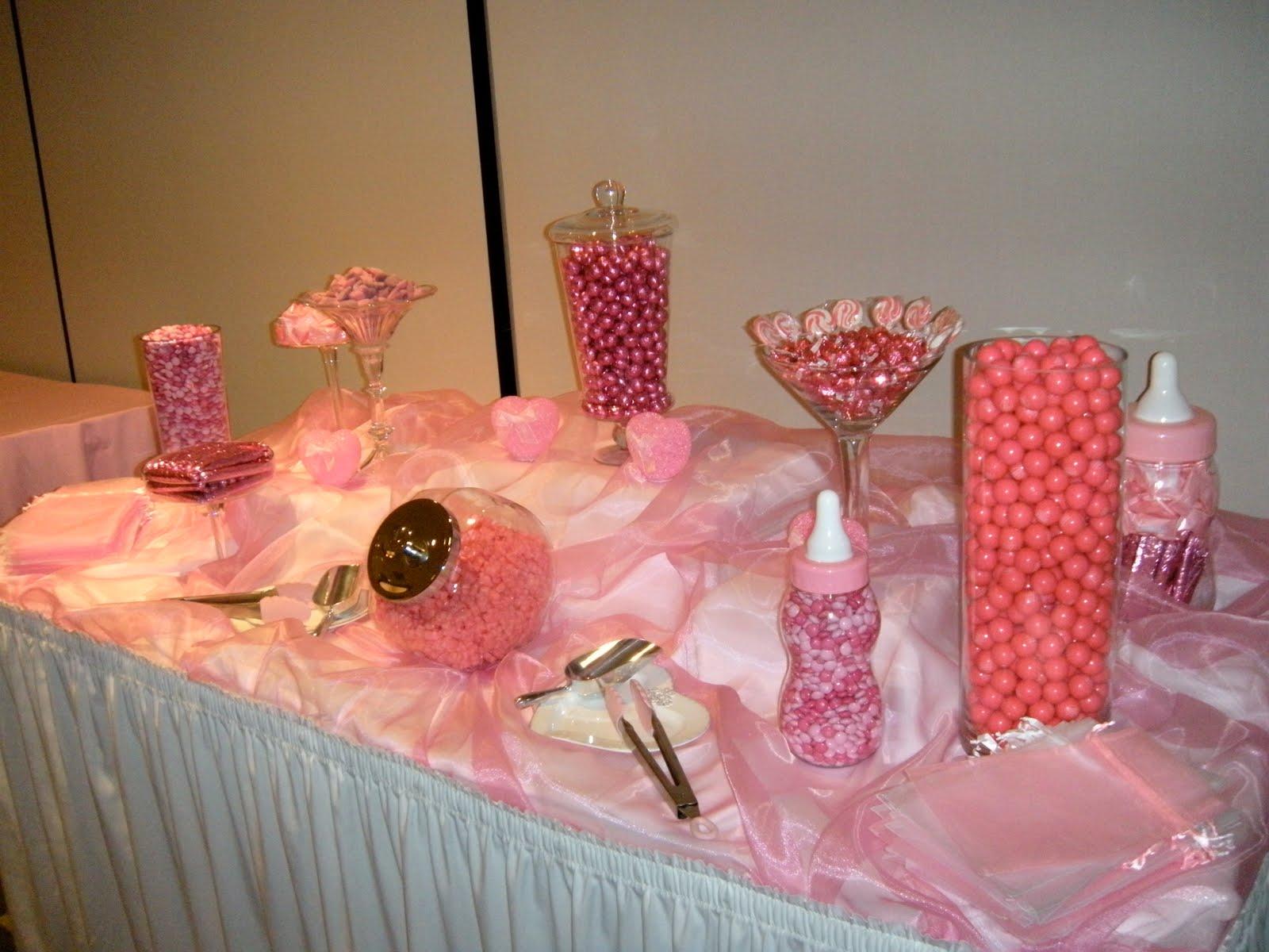 pink candy buffet baby shower pink candy buffet