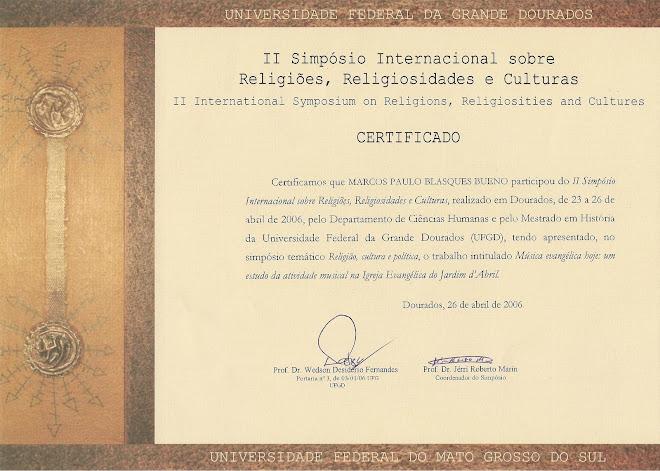 II Simpósio Internacional RELIG (frente)