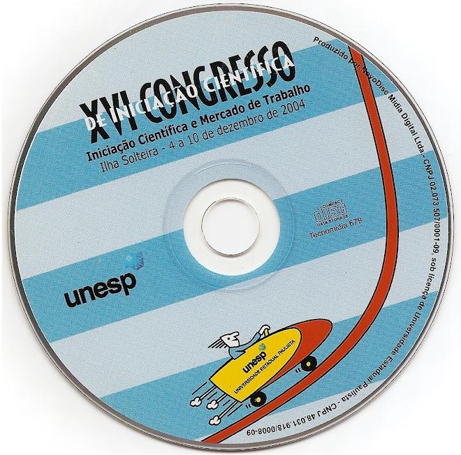Publicação Inserida em CD ROM - XVI Congresso de Iniciação Científica da UNESP