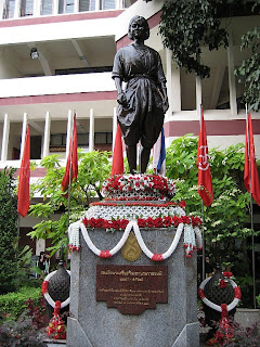 statue of the Srinagarindra (the Princess Mother) at Satriwithaya School