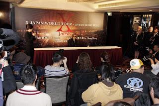 X Japan Konfrensi Pers di Hong Kong