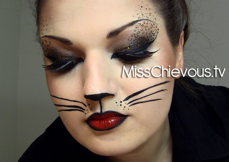 Sexy Cat Face Paint http://iwovip.hostzi.com/cat-halloween-make-up.php