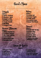 All Us All the Time Halloween Menu