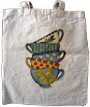 Teacups Cotton Bag