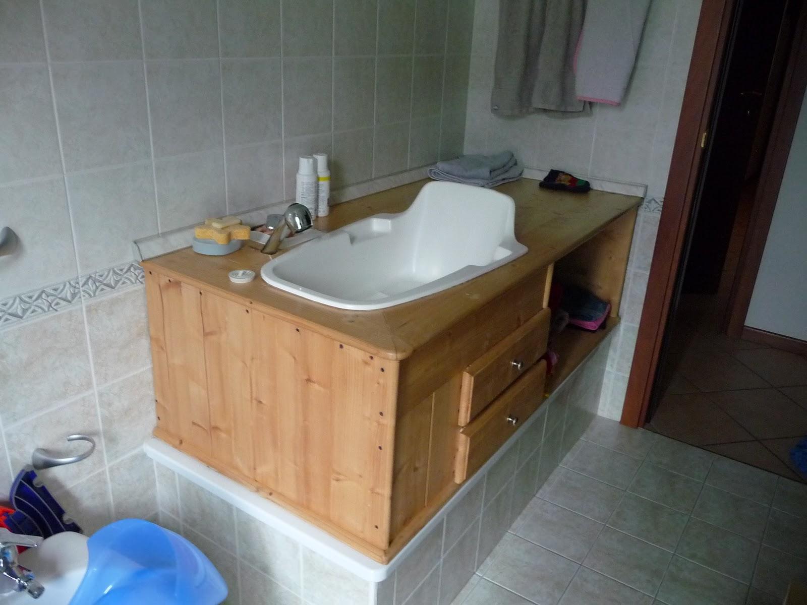Mobiletto basso 2 ante - Fasciatoio bagno ...