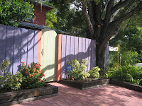 Painted gated, Towles Court, Sarasota, FL
