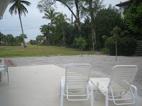 Backyard of Lido Key Home