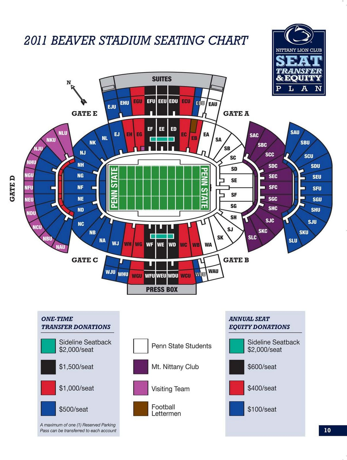Beaver Stadium 2011 seating chart released. By Mike