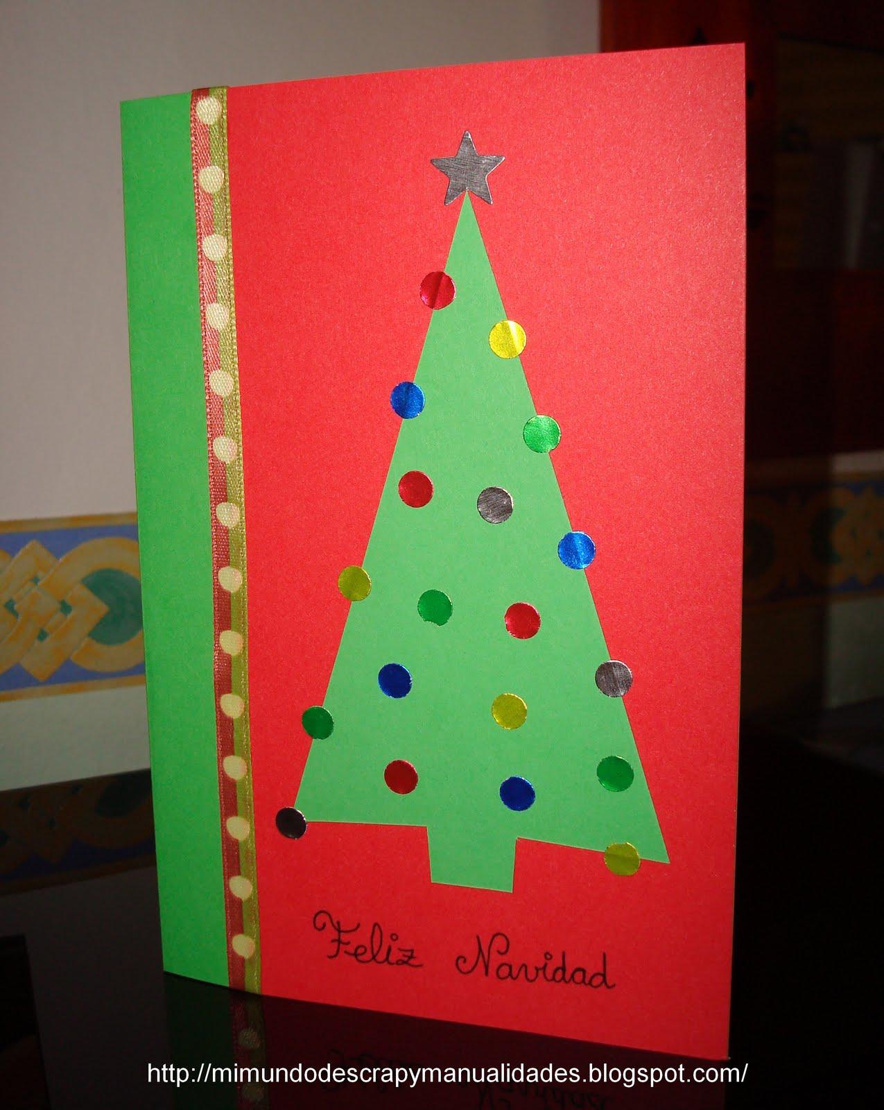 Mi mundo de scrap y manualidades postal de navidad 3 - Tarjetas de navidad faciles ...
