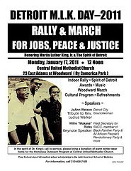 Detroit Annual Dr. Martin Luther King, Jr. Day Rally &amp; March Took Place on January 17, 2011