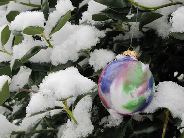 Purple Marbelized Ornament