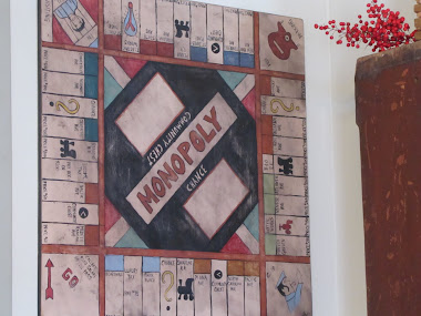 Painted Wooden Monopoly Board