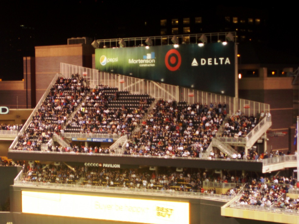 target field twins. the starting Twins lineup.