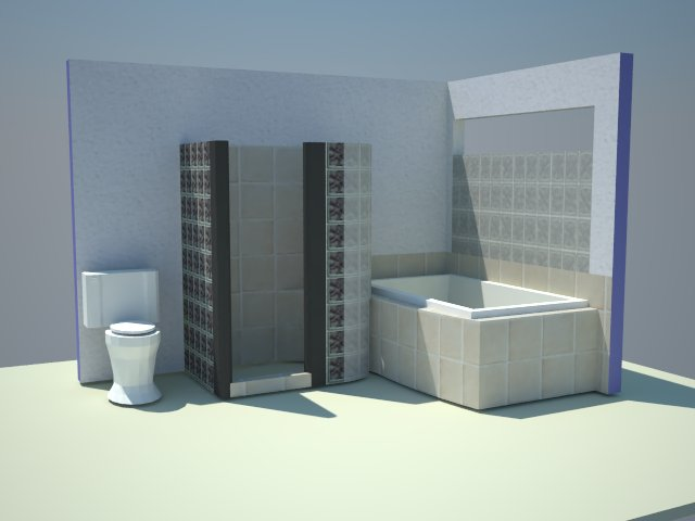 mes travaux salle de bain sketchup vray. Black Bedroom Furniture Sets. Home Design Ideas