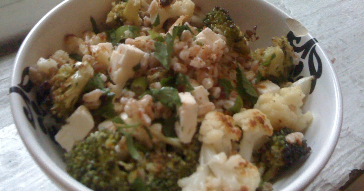 Navy Blue Kitchen: Roasted Broccoli, Cauliflower, and ...