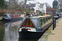Narrow boats on the Bridgewater Canal in Lymm