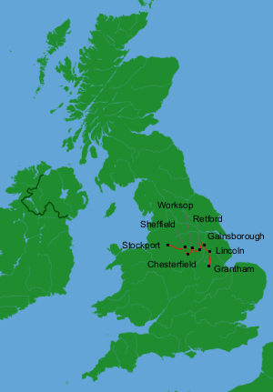 Britain by Bus Day 4: Stockport to Grantham