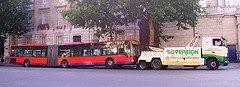 Broken-down bendy-bus