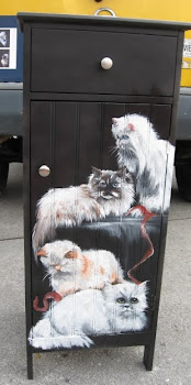 painting I did on a cabinet