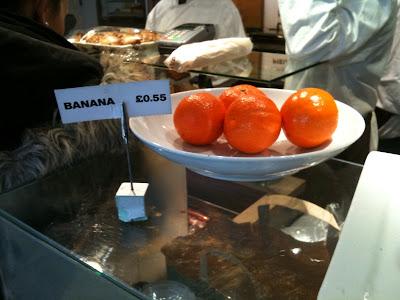 Bananas, looking suspiciously round and orangey