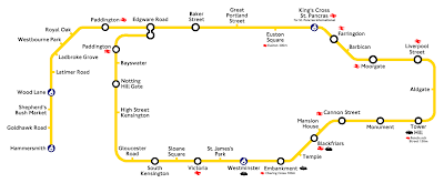 The extended Circle Line on the London Underground, or Tube, could be called the Lasso Line