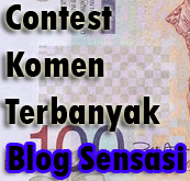Contest Komen Terbanyak Blog Sensasi - Menang tempat ke-6