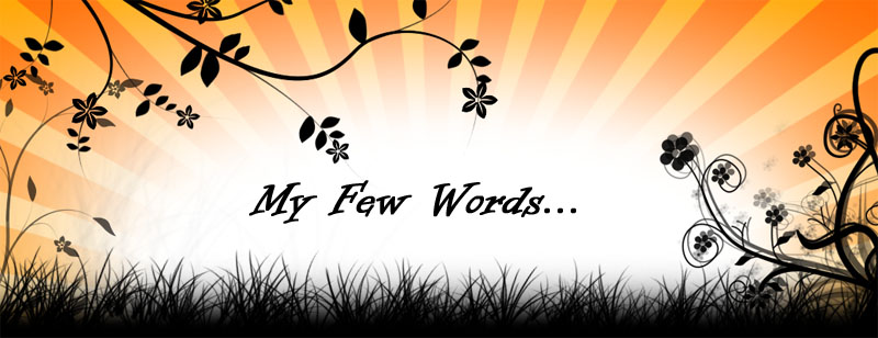 My Few Words..