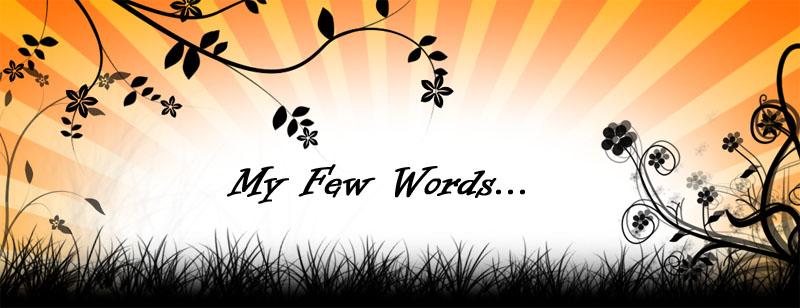 My Few Words..