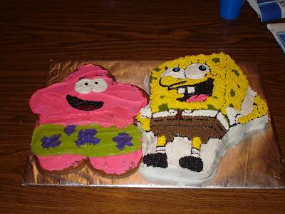 CAKEOLICIOUS SpongeBob Birthday Cake and Patrick Cookie