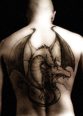 Dragon Tattoo on Male Back
