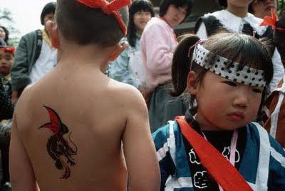 Dragon Tattoo on Teen Boy Back Body