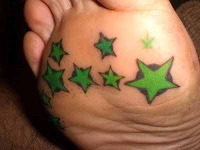 Sexy Star Tattoo For Girls Feet
