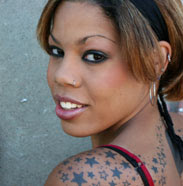 Nautical Stars Tattoo Design on Shoulder and Back