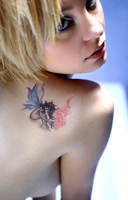 Fairy Tattoo Design on Sexy Female Back