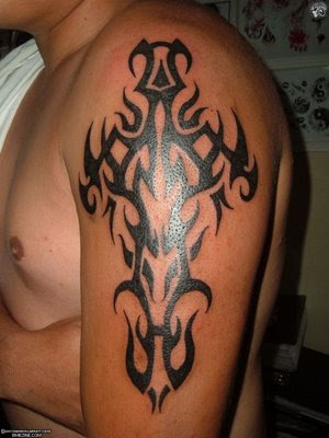 Cool Tribal Tattoo Ideas For Men. Colourfull Arm Sleeves Tattoo Design For