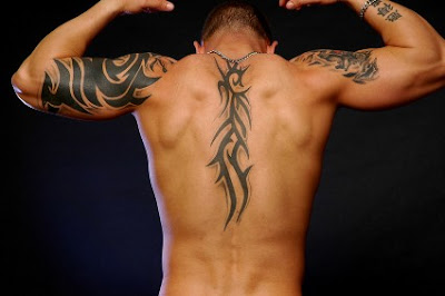 Cool Tribal Tattoos on Back and Arms For Men