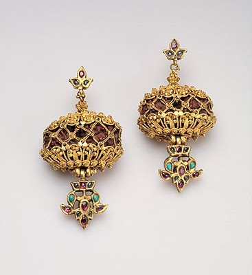 Gold Stones Beautiful Earrings Latest Models