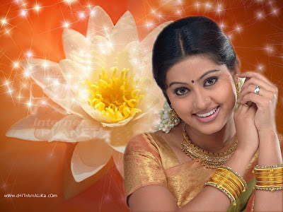 Actress Sneha in Designer Gold Necklace Set
