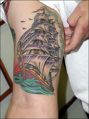 Ship Tatoo on Arms